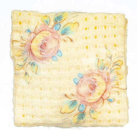 Yellow Dollhouse Miniature Embroidered Pillows - Little Shop of Miniatures
