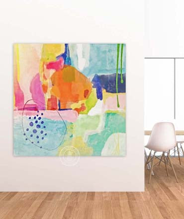 Bright Abstract Painting Alex Isaacs Designs