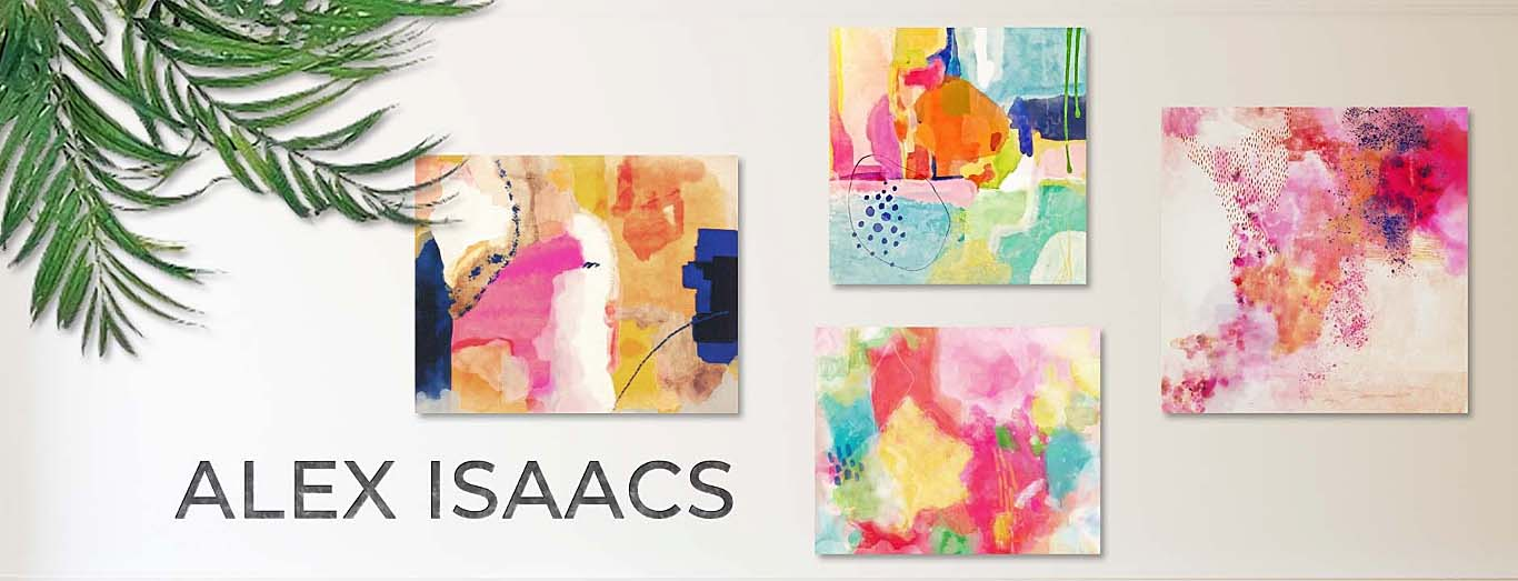 Bright Colorful Abstract Paintings by Alex Isaacs Designs