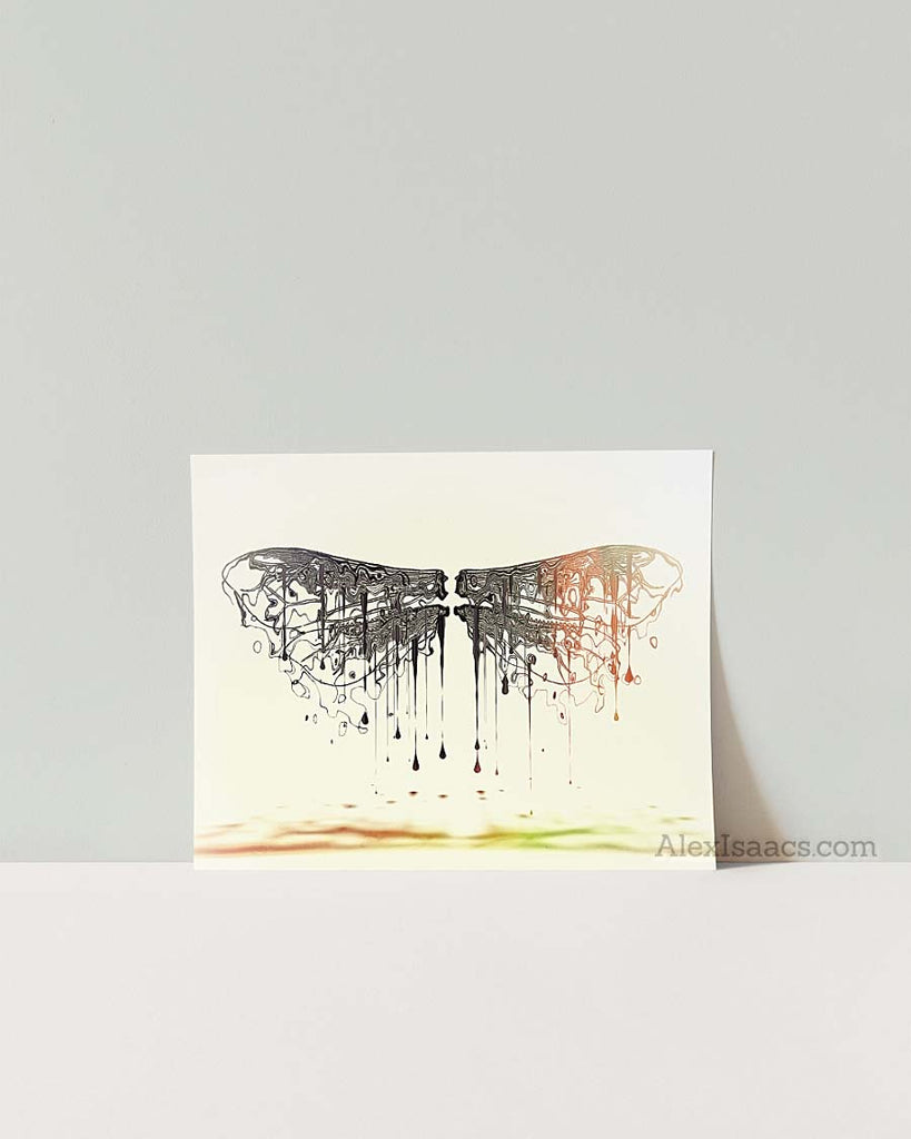 Surrealist Dragonfly Illustration by Alex Isaacs Designs