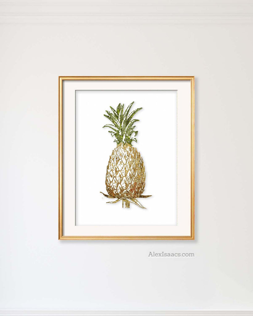 Gold Pineapple Print-Alex Isaacs Designs