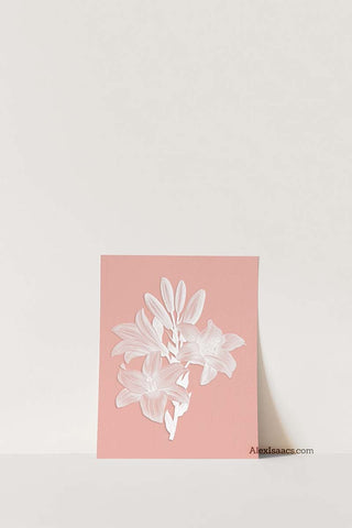 Single view of Pink Lily Flower Print by Alex Isaacs