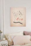 Abstract Line Figured Drawing Bedroom Art