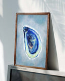 Coastal Blue Oyster Art Prints, Set of 4-Prints-Alex Isaacs Designs
