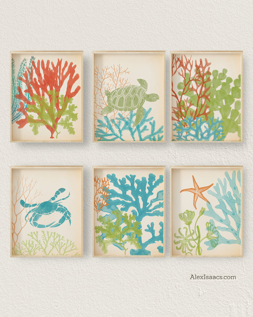 beach house gallery wall art by Alex Isaacs