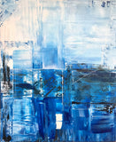 Cobalt Blue Abstract Painting by Alex Isaacs Designs