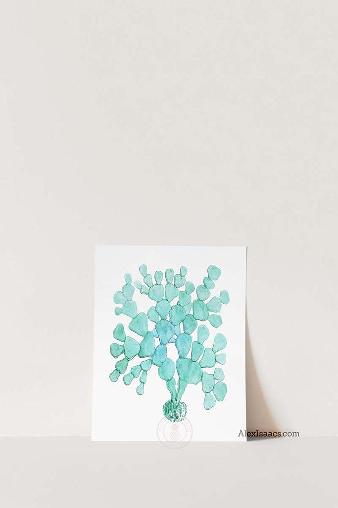 One seaweed prints in aqua by alex Isaacs designs