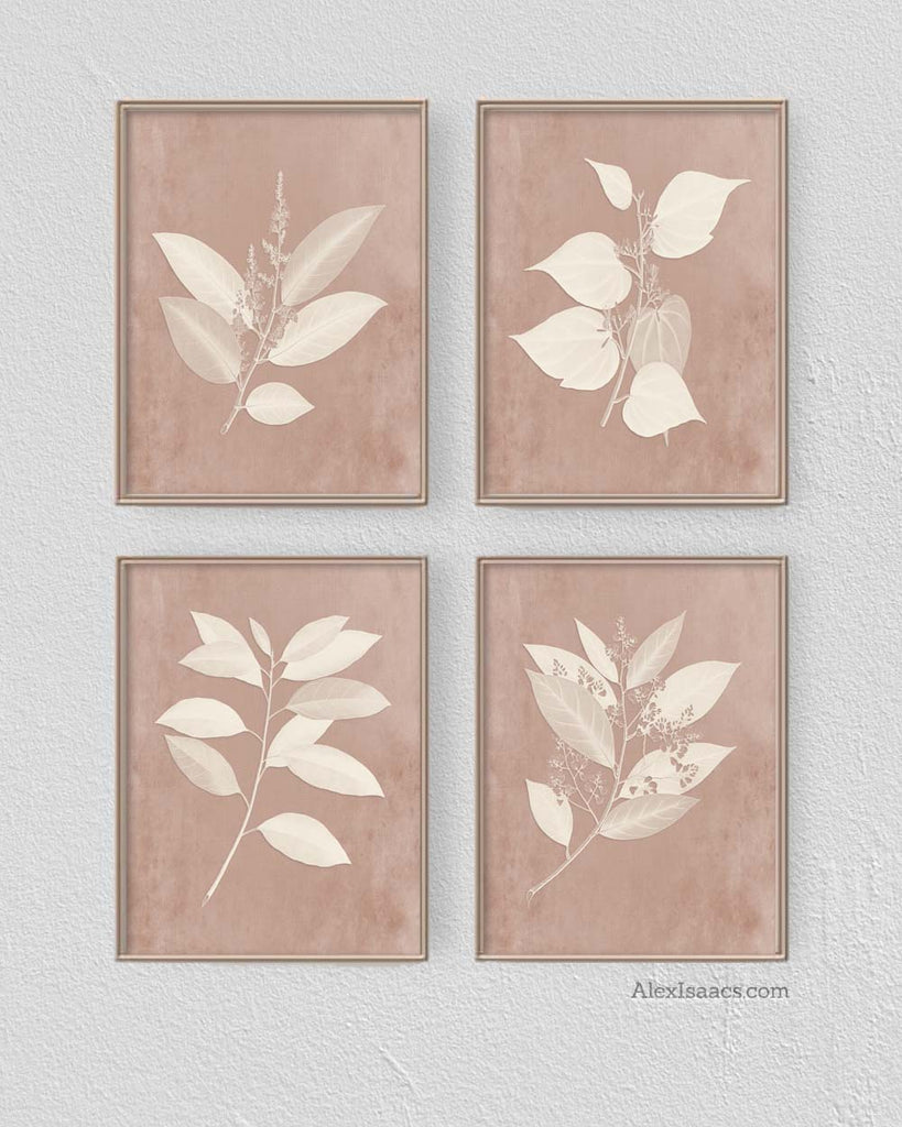 Blush Botanical Prints by Alex Isaacs Designs