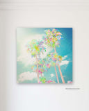Colorful Palm Tree Painting by Alex Isaacs Designs