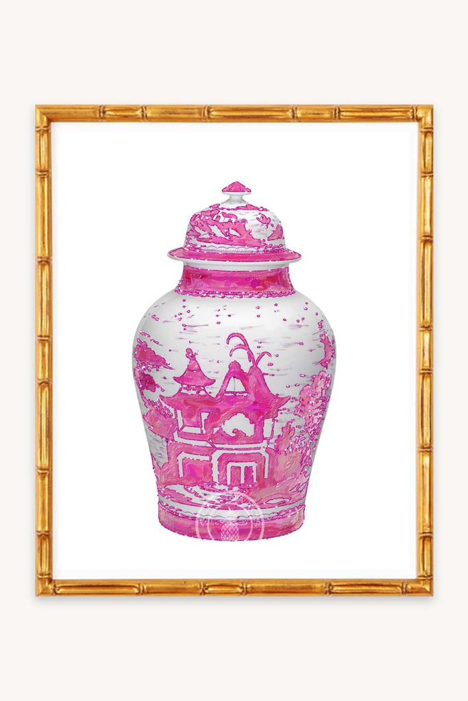 Hot Pink Ginger Jar Print
