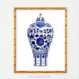 Blue and White Ginger Jar Wall Art