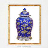 Gold Ginger Jar Art, Chinoiserie Art-Alex Isaacs Designs