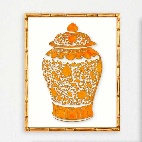 Orange Ginger Jar Print