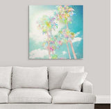 Palm Tree Painting over white sofa