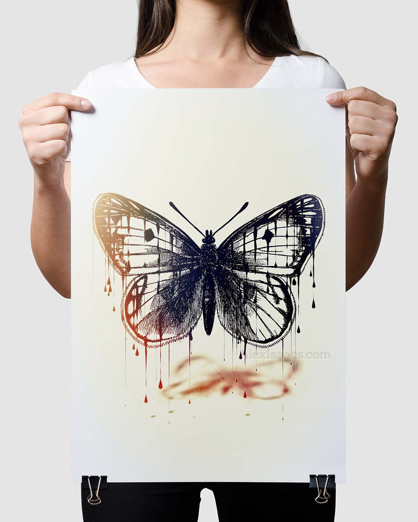 Monarch Butterfly Print Large by Alex Isaacs