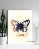 Black Monarch Butterfly Wall Art, Surrealism
