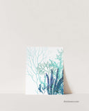 Blue Teal Aqua Sea Algae Prints, Set of 2-Prints-Alex Isaacs Designs