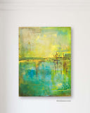 Yellow Green Abstract Painting