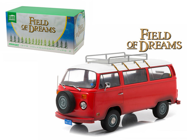 "1973 Volkswagen Type 2 Bus (T2B) ""Filed of Dreams"" Movie (1989) 1/18 Diecast Model by Greenlight"