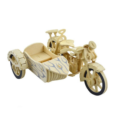 BOHS DIY  Wooden 3D Puzzle Scale Tricycle Motorcycle Model