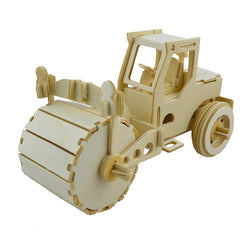 BOHS Wooden 3D Vehicles Puzzle DIY  Car Dump Truck Lorry forklift bulldozer motorcycle Scale Miniature Model Educational Toys