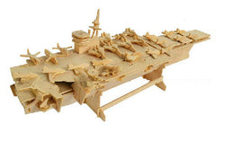 BOHS Scale Miniature 3D Puzzle Wooden Educational Toys Aircraft Carrier  17*50*14.5