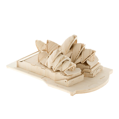 BOHS Educational Toys Sydney Opera House 3D Puzzle Wooden Model DIY Scale Models