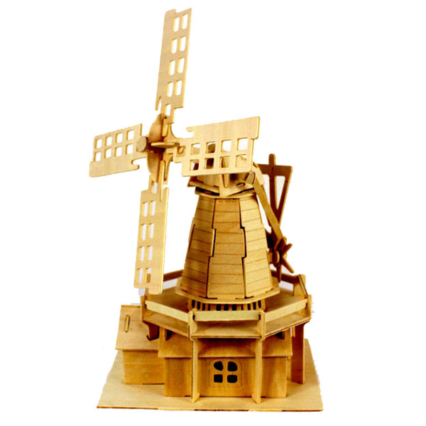BOHS Educational toys Wooden Model Windmill 3d Puzzle DIY Scale Models