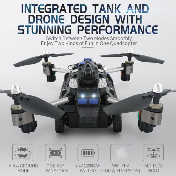 rc TOY JJRC H40WH 2.4G 4CH 6 Axis Wifi Hover RC Quadcopter Drone Tank w/ 720P Camera
