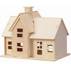 BOHS Educational Toys Wooden Build House Miniature Model  3D   DIY Country Station Design Scale Models 19.5*14.5*16CM
