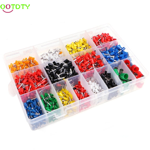2120 Pcs Insulated Cord Pin End Terminal Bootlace Ferrules Kit Set Wire Copper  828 Promotion