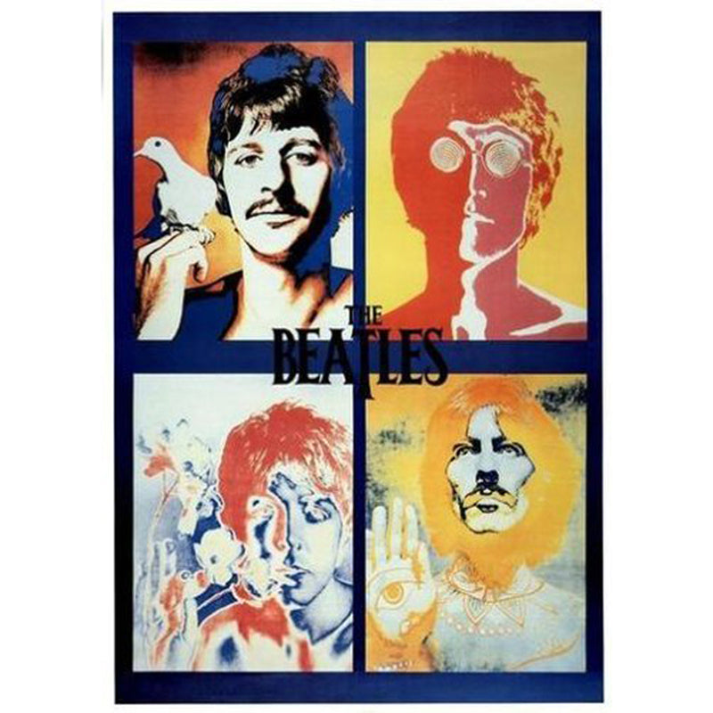 Beatles Avedon 4 Faces Poster