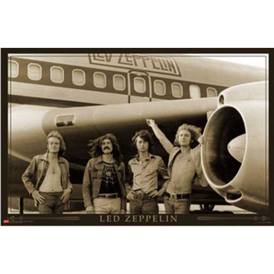 Led Zeppelin Airplane Poster
