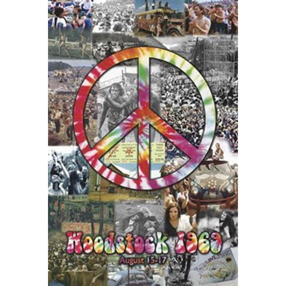 Woodstock 1969 Collage Poster
