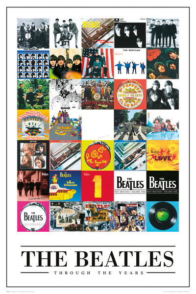 Beatles Through Years Poster