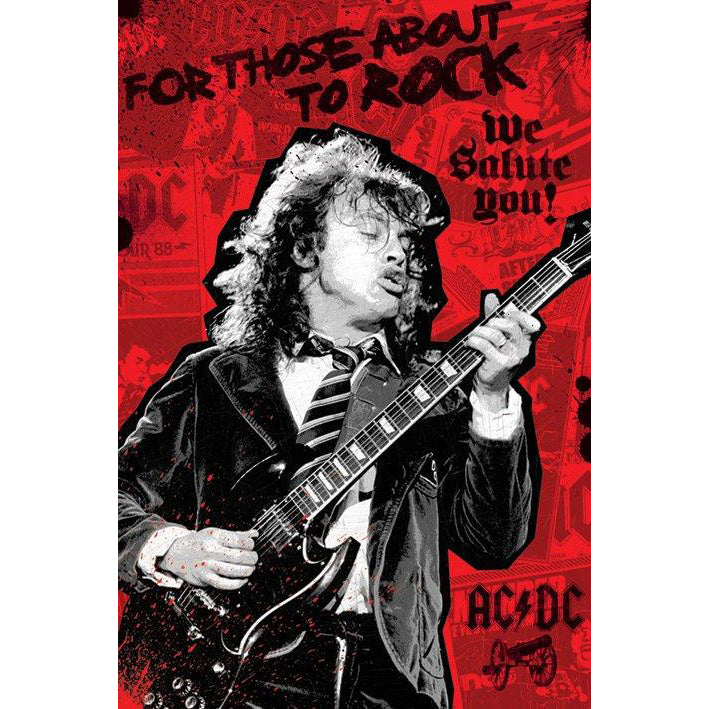 AC/DC FTATR Angus Young Poster