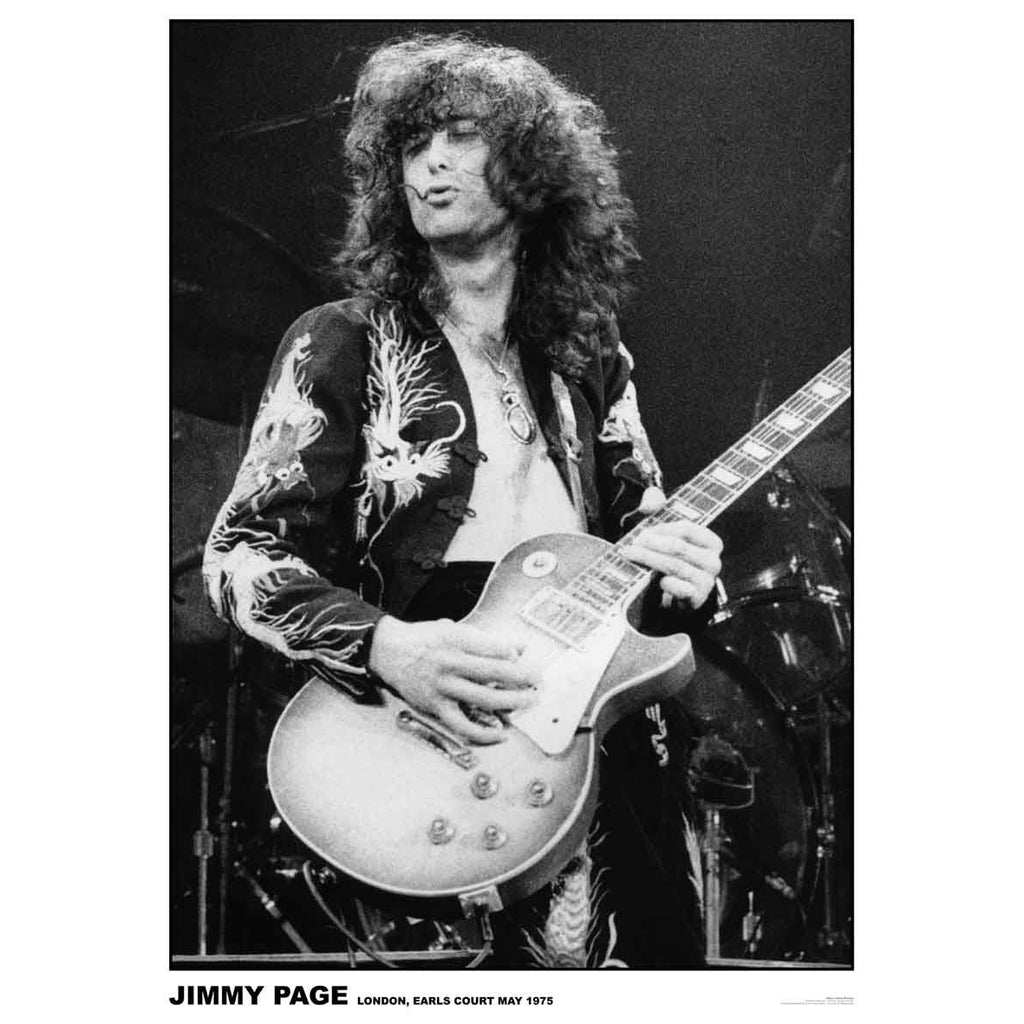 Jimmy Page Dragon Suit Poster
