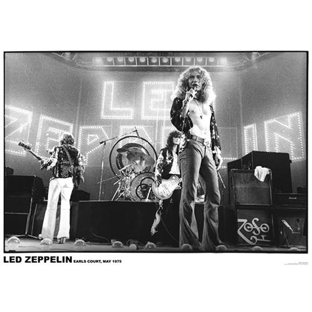 Led Zeppelin Earls 1975 Poster