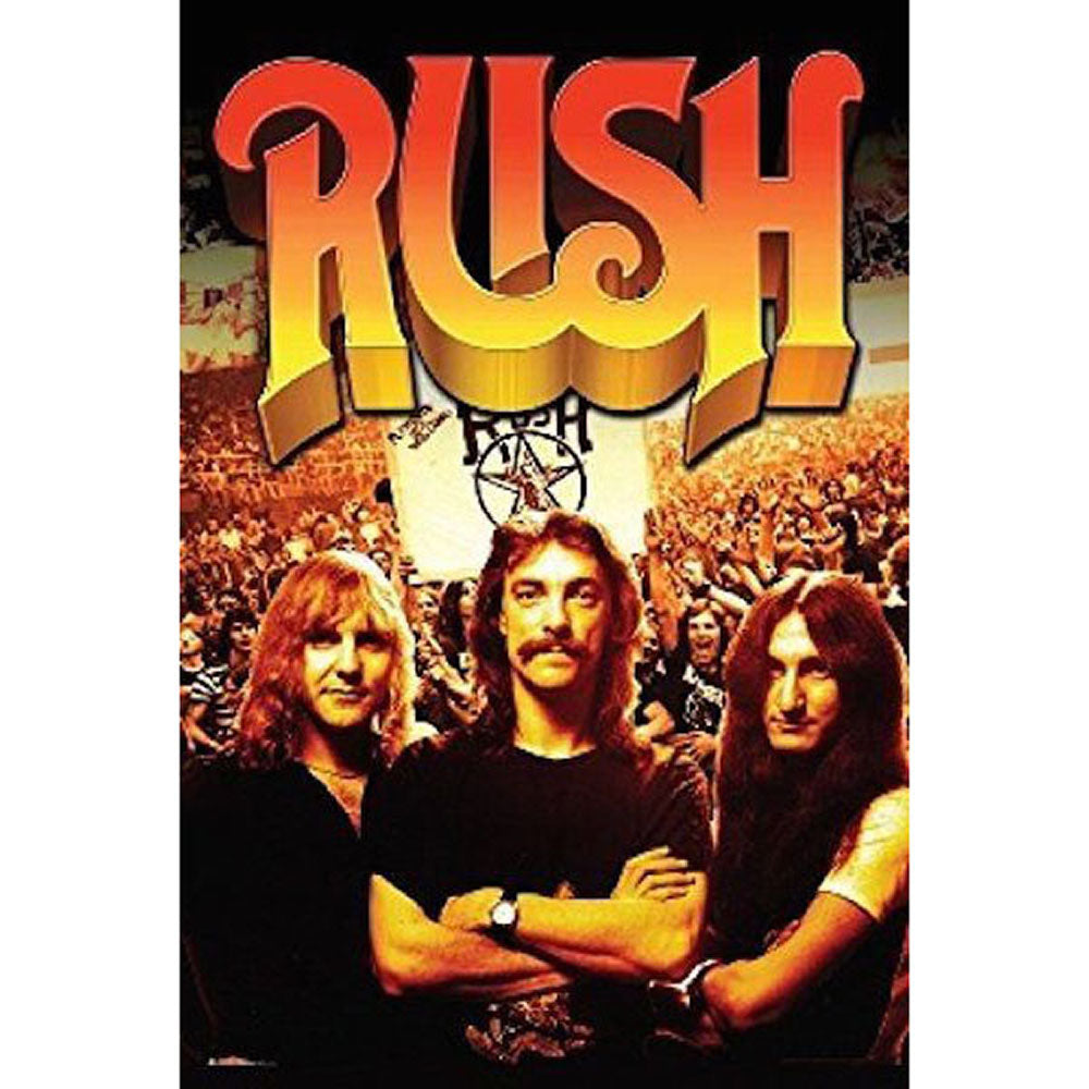 Rush Group with Crowd Poster
