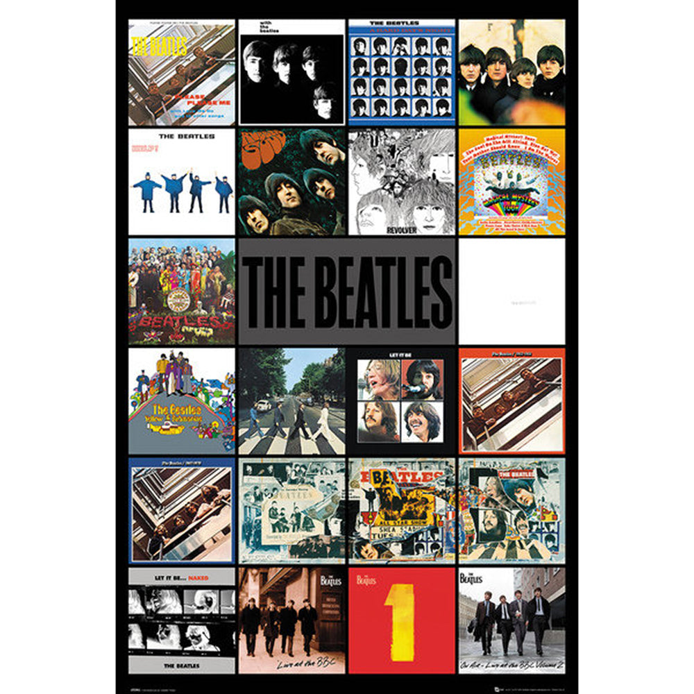 Beatles Discography Poster