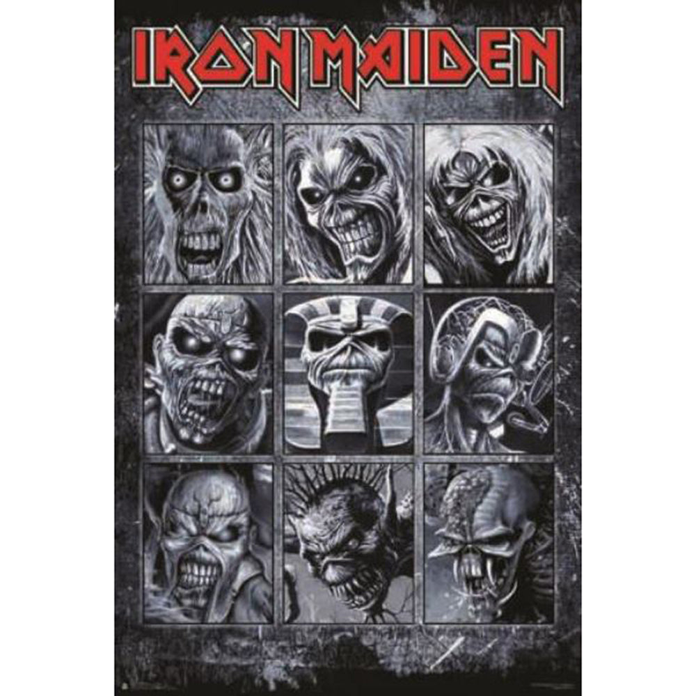 Iron Maiden Faces Eddie Poster