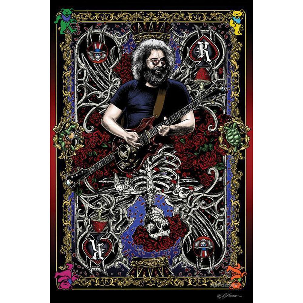 Grateful Dead Jerry Crd Poster