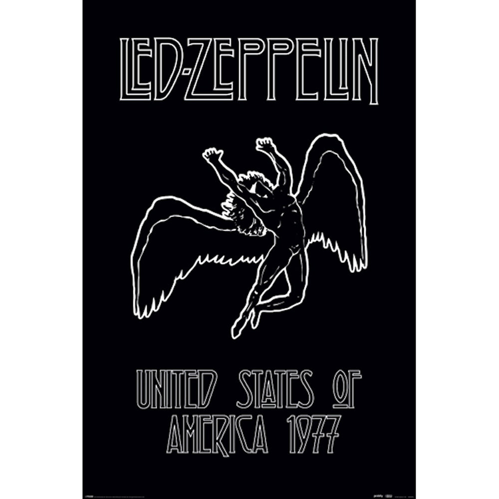 Led Zeppelin Icarus 77 Poster