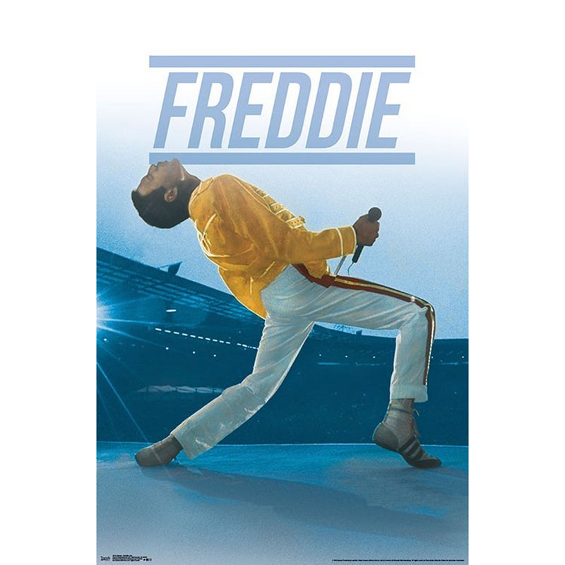 Queen Freddie Yellow Poster