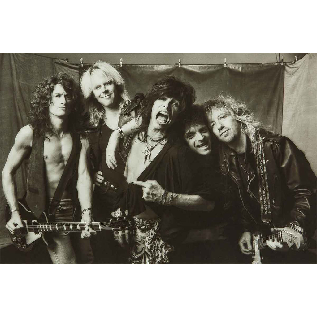 Aerosmith B&W Group Poster
