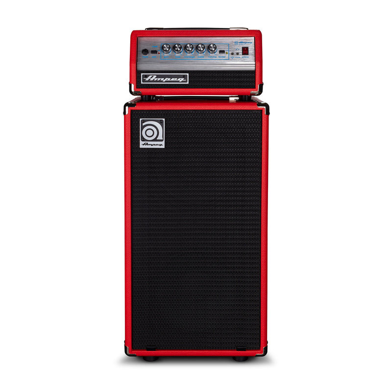 Ampeg SVT Micro VR SVT210AV Classic Bass Amp Stack - Limited Edition Red