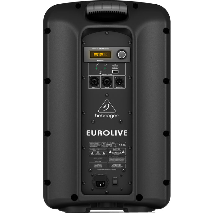 "Behringer EUROLIVE B12X 12"" 1000watt Powered PA Speaker - With Bluetooth"