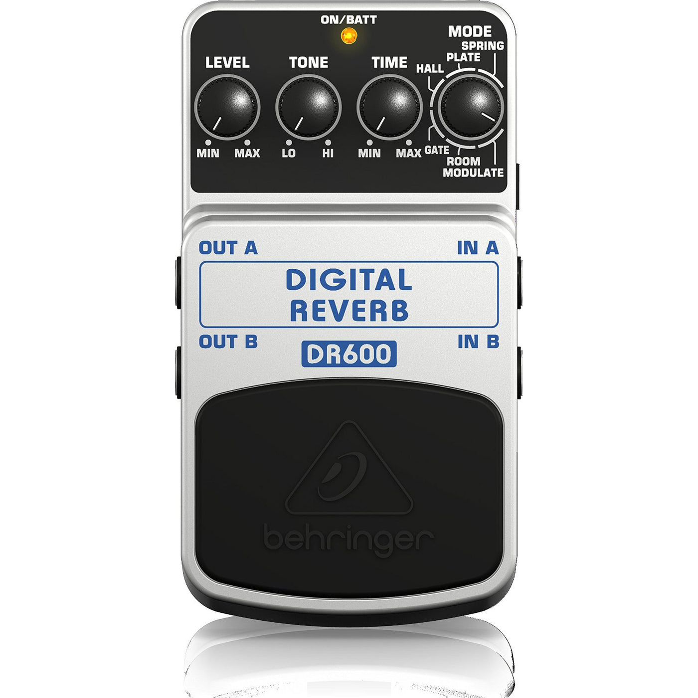 Behringer DR600 DIGITAL REVERB Digital Stereo Reverb Effects Pedal Brand New