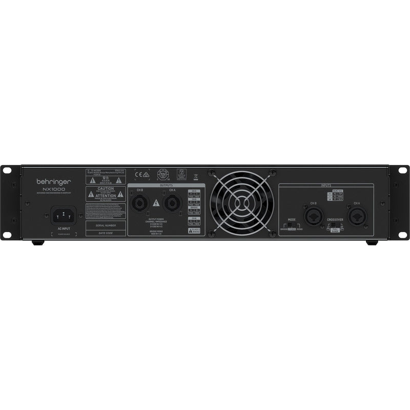 Behringer NX1000 Ultra-Lightweight 1000-Watt Power Amp with Loudspeaker Impedance Compensation