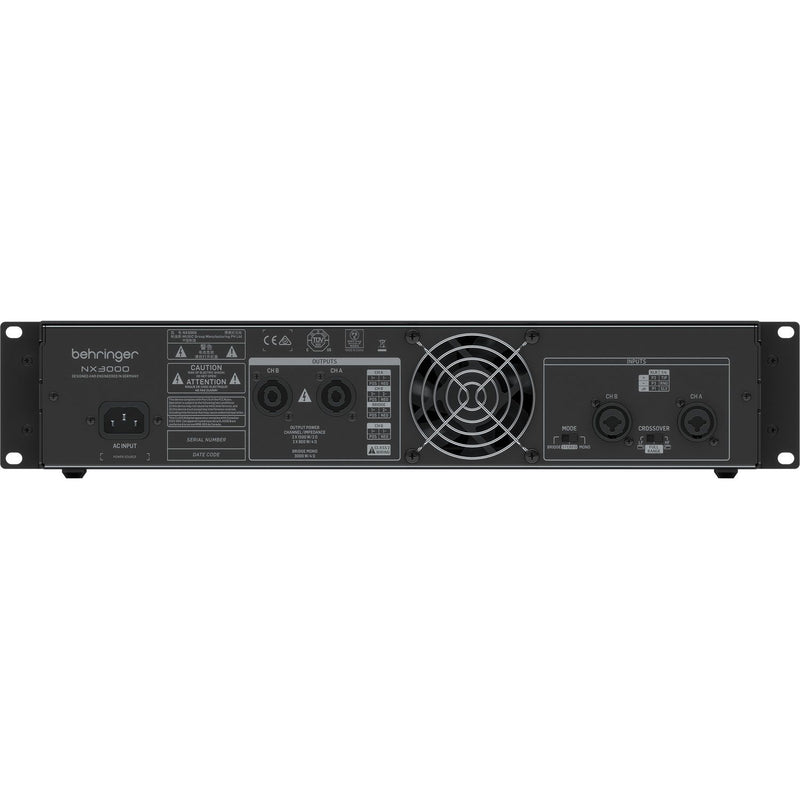 Behringer NX3000 Ultra-Lightweight 3000-Watt Power Amp with Loudspeaker Impedance Compensation